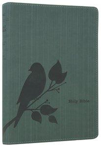NLT Slimline Reference Bible Birdsong Teal (Red Letter Edition)