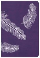Csb Compact Ultrathin Bible For Teens Plum Feathers Leathertouch