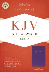 KJV Gift Award Bible Purple