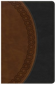 NKJV Large Print Personal Size Reference Bible Black/Brown Deluxe