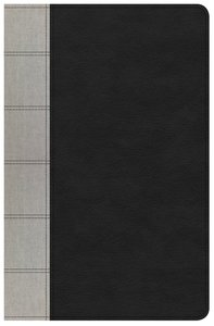 NKJV Large Print Personal Size Reference Bible Indexed Black/Gray Deluxe