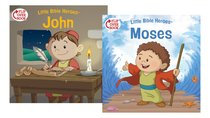 Moses/John Flip-Over Book (Little Bible Heroes Series)