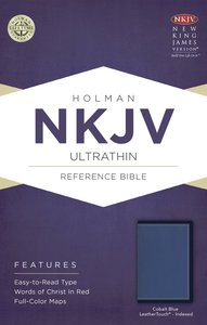 NKJV Ultrathin Reference Indexed Bible Cobalt Blue
