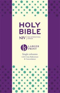 NIV Larger Print Compact Anglicised Bible Purple Soft-Tone