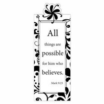 Magnetic Bookmark: All Things Are Possible...
