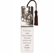 Bookmark With Tassel: In All Your Ways (Brown/White) (Bike)