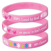 Novelty Gracebands:100% Loved By God (3 Set)
