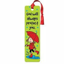 Bookmark With Tassel: Laedee Bugg - God Will Always Protect You