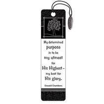 Bookmark: Purpose Charm Black and White