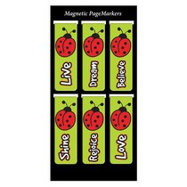 Magnetic Bookmarks Set of 6: Laedee Bugg #02
