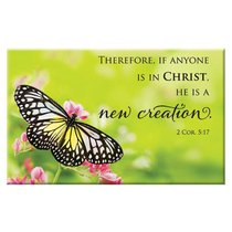 Magnet With a Message: Therefore, If Anyone is in Christ... (2 Cor 5:17)