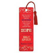 Bookmark With Tassel: Hope By the Power of the Spirit Romans 15:13