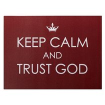 Bumper Magnet: Keep Calm and Trust God (Red/white)