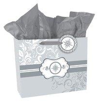 Gift Bag Large: Silver Pattern