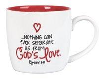 Ceramic Mug: God Loves You & So Do I (Red Interior)