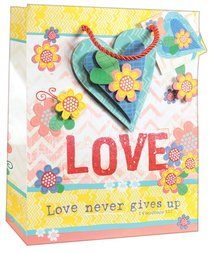 Gift Bag Medium: Love, Matching Tissue Paper