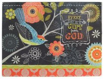 Chalk Bird Collection: Glass Cutting Board - Every Day is a Gift From God