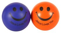 Squeeze Ball Pack of 2: Blue & Orange, Jesus Loves You