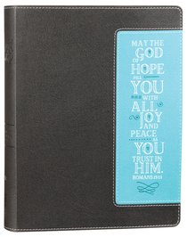 NIV Beautiful Word Bible Chocolate/Turquoise