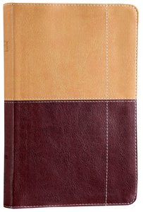 NIV Thinline Reference Bible Camel Burgundy Duo-Tone (Red Letter Edition)