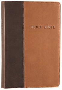 NLT Premium Value Large Print Slimline Bible Brown/Tan (Black Letter Edition)