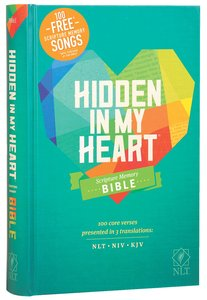 NLT Hidden in My Heart Scripture Memory Bible With 100 Free Songs (Black Letter Edition)