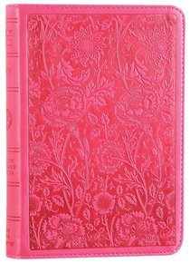 ESV Large Print Compact Bible Trutone Berry Floral Design Red Letter Edition