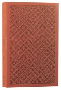 ESV Value Edition Bible Truflat Sienna Flower Print (Black Letter Edition)