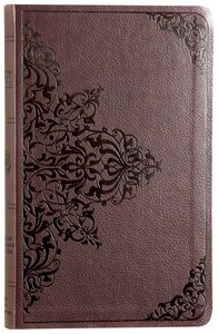 ESV Premium Gift Bible Chestnut Filigree Design