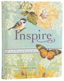 NLT Inspire Creative Journaling Bible Blue/Cream (Black Letter Edition)