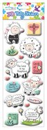 Puffy Stickers: Lamb Series (1 Sheet Per Pack)