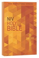 NIV Value Outreach Bible Orange Cross Geometric