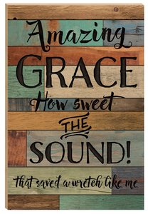 Barn Board Wall Art: Amazing Grace