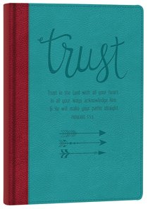 Italian Faux Leather Journal: Trust in the Lord