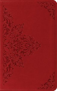 ESV Thinline Bible Cranberry Filigree Trutone (Red Letter Edition)