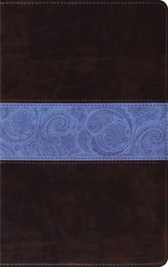 ESV Thinline Chocolate Blue Paisley Band Red Letter Edition