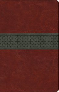 ESV Large Print Thinline Reference Trutone Bible (Black Letter Edition) (Walnut/slate, Crossband Design)