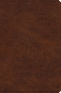 ESV Verse-By-Verse Reference Bible Trutone Deep Brown (Black Letter Edition)