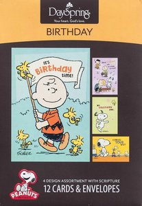 Boxed Cards Birthday: Peanuts