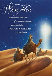 Christmas Boxed Cards: Wisemen - Treasure of Heaven (Matthew 6:21 Nkjv)