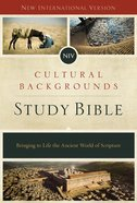 Niv, Cultural Backgrounds Study Bible, Ebook