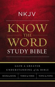 NKJV, Know the Word Study Bible, Ebook, Red Letter Edition