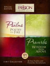 TPT the Psalms & Proverbs (Black Letter Edition) (2 In 1 Collection With Devotions)