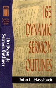 Sos: 165 Dynamic Sermon Outlines (Sermon Outline Series)