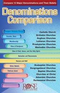 Denominations Comparison (Rose Guide Series)
