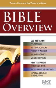 Bible Overview: Know Themes, Facts and Key Verses At a Glance (Rose Guide Series)