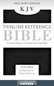KJV Thinline Reference Bible Black