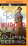Rules of Murder (Unabridged, MP3) (#01 in Drew Farthering Mystery Audio Series)