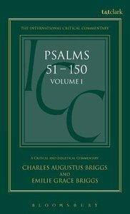 Psalms (Volume 1) (International Critical Commentary Series)