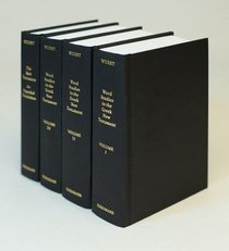 Word Studies in the Greek NT 4 Vols